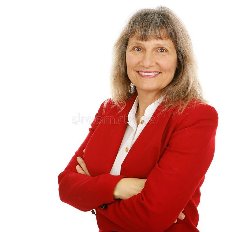 Femme d'affaires ou agent immobilier amicale image libre de droits