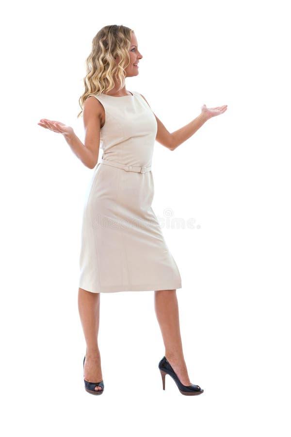 Femme d'affaires parlant à l'associé photos stock