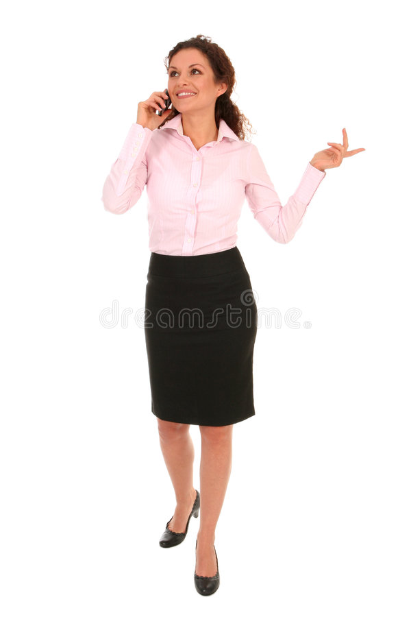 Femme d'affaires parlant au téléphone photos libres de droits