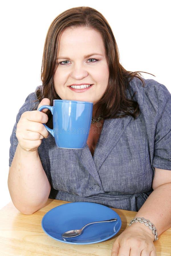 Femme d'affaires - pause-café image stock