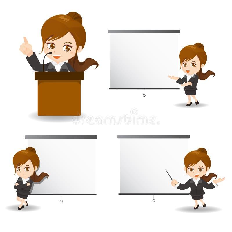 Femme d'affaires présente lors de la réunion illustration libre de droits