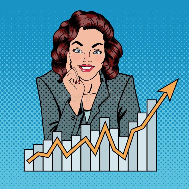 Femme d'affaires réussie Madame #37 d'affaires illustration libre de droits