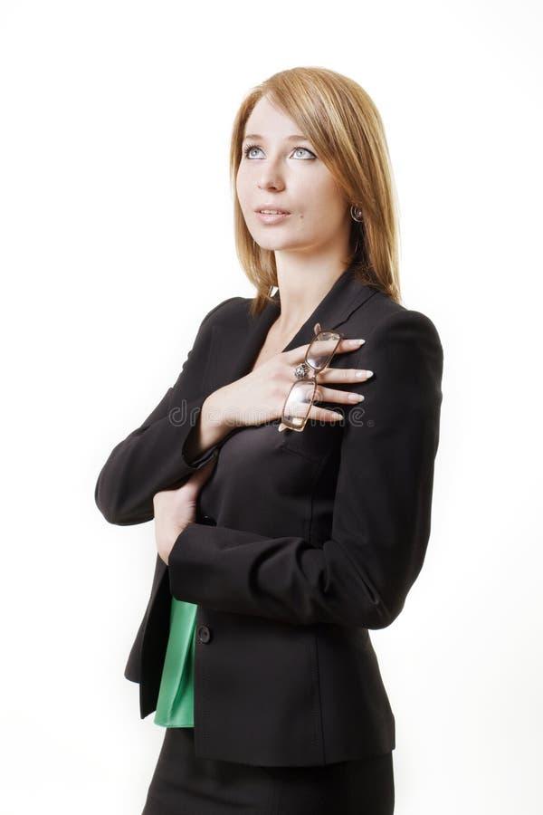 femme d'affaires recherchant photo stock