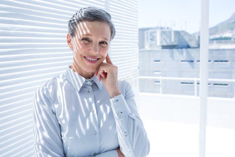 Download Femme D'affaires Regardant L'appareil-photo Avec Des Bras Pliés Photo stock - Image du rectifié, élégant: 56483284