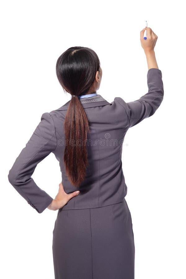 Femme d'affaires restant à l'arrière photographie stock libre de droits
