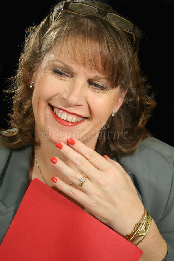 Download Femme D'affaires Rouge 2 De Dépliant Photo stock - Image du dépliant, direction: 2132278