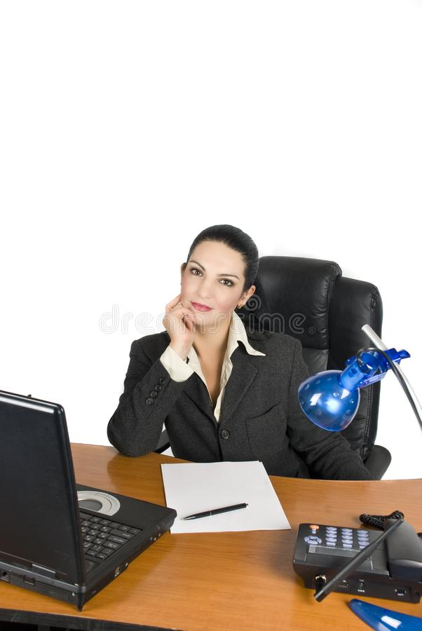 Femme d'affaires sûre image libre de droits
