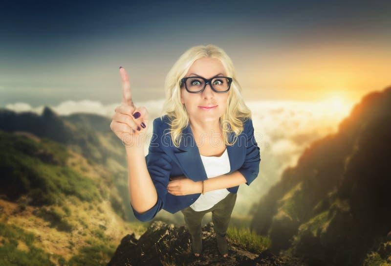Femme d'affaires sûre en verres photos libres de droits
