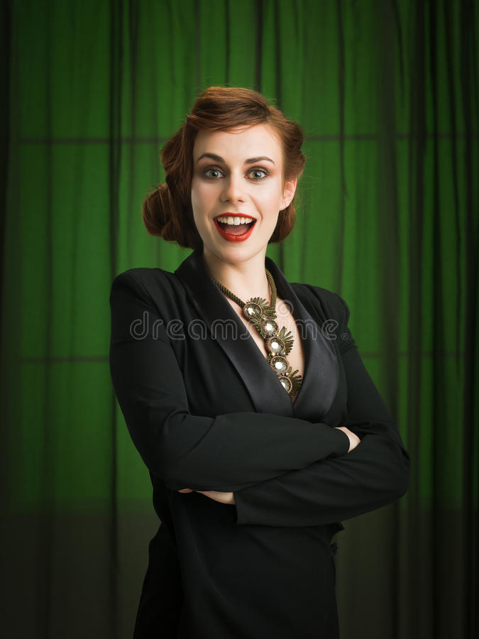 Femme d'affaires sexy image stock