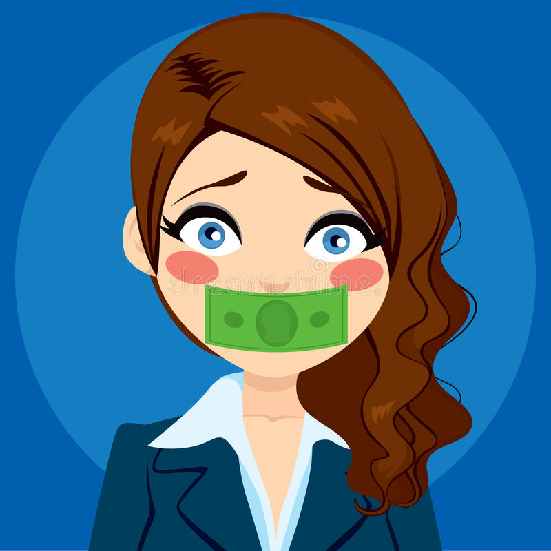 Femme d'affaires Silenced With Money illustration de vecteur