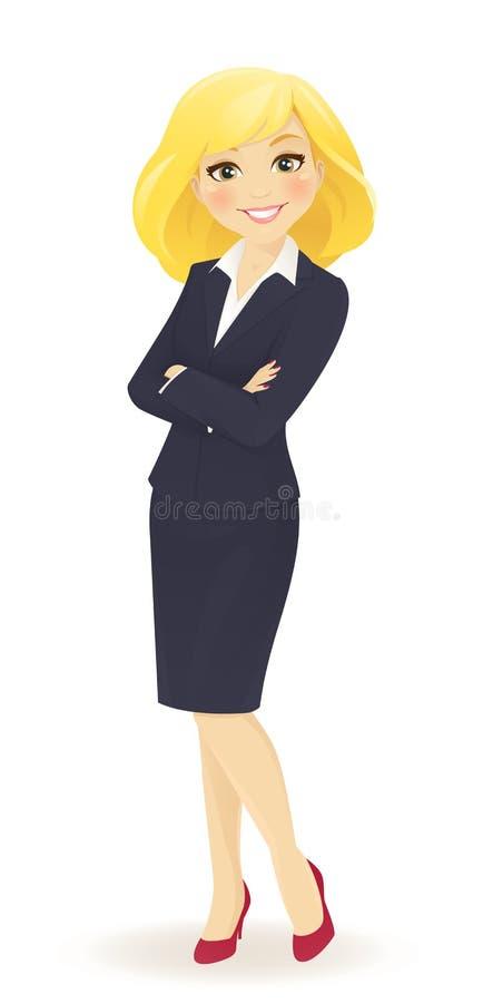 Femme d'affaires Standing illustration stock