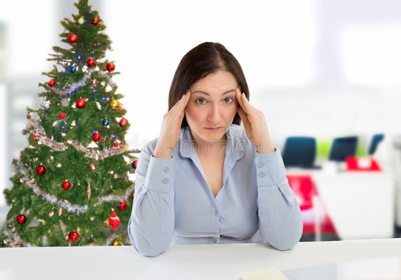Femme d'affaires sur Noël images libres de droits