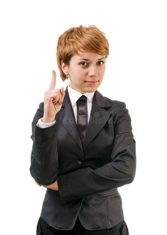 Femme d'affaires sur un blanc photographie stock libre de droits