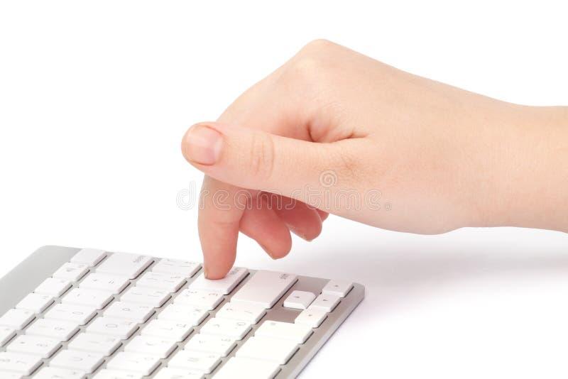 Femme d'affaires tapant sur le clavier photos libres de droits