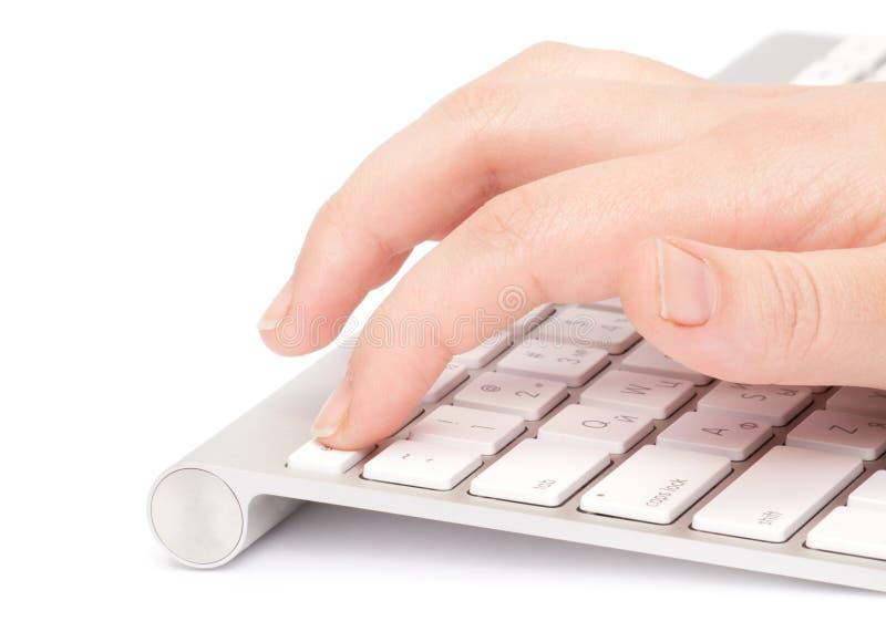 Femme d'affaires tapant sur le clavier image libre de droits