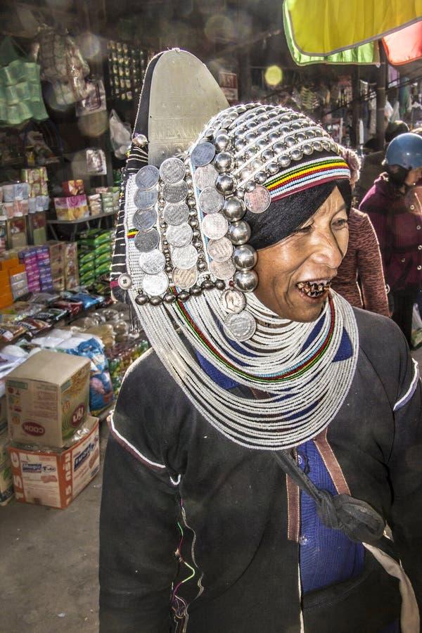Femme d'Akha images stock