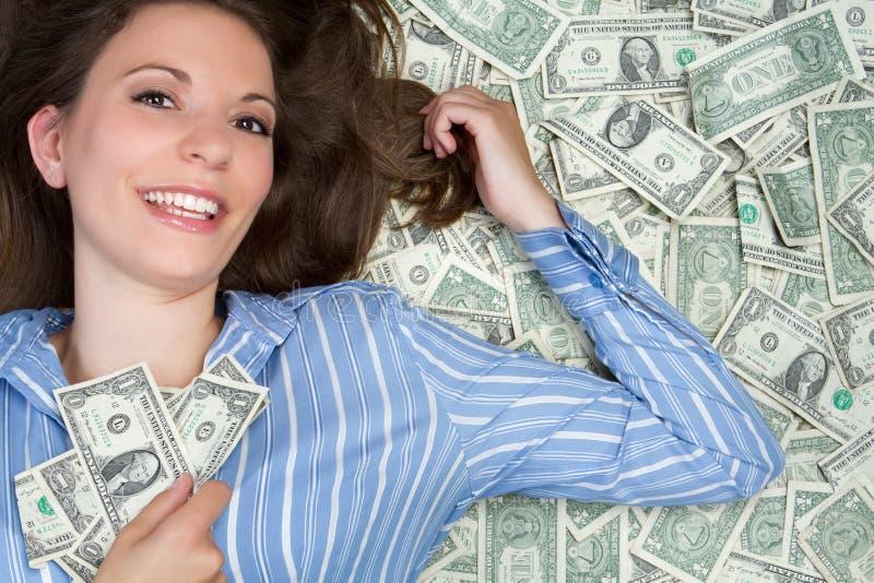 Femme d'argent photographie stock