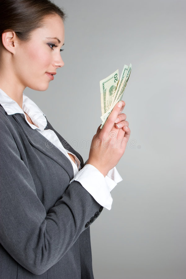 femme d'argent de fixation photos libres de droits
