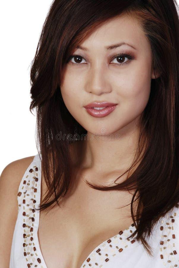 Femme d'Asiatique de Beautuful photos stock
