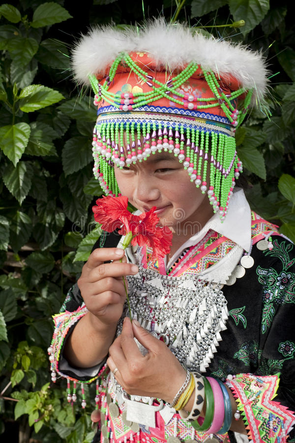Femme d'Asiatique de verticale photos libres de droits