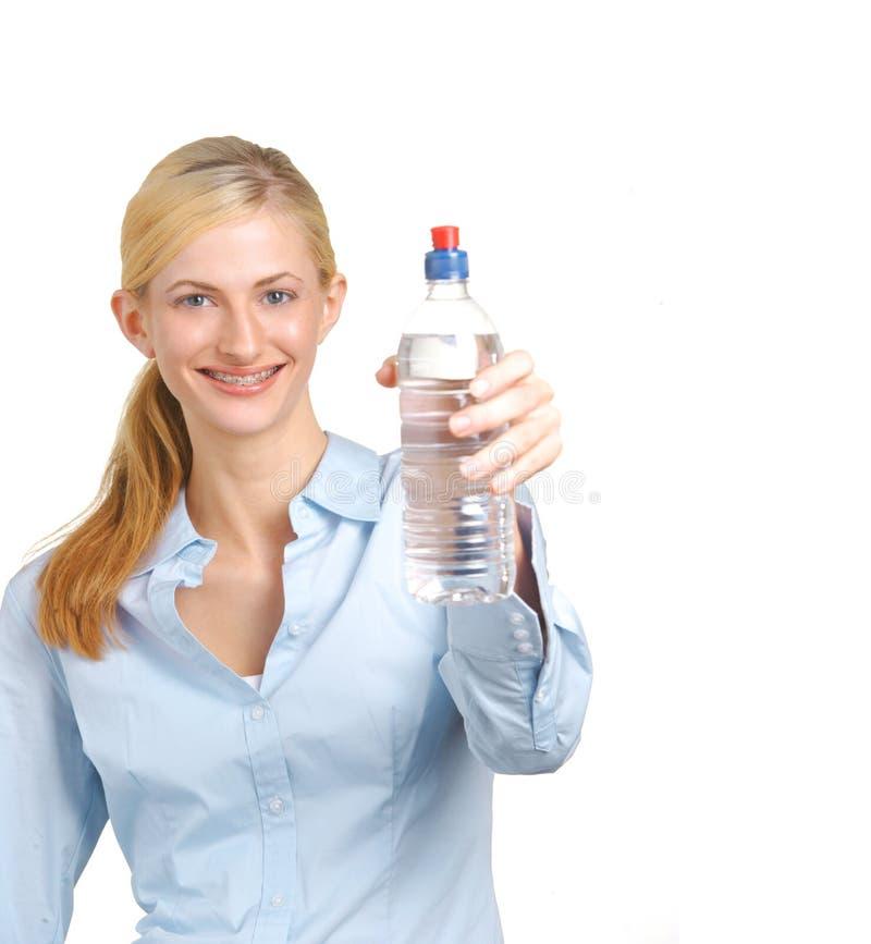 femme d'eau potable d'affaires photographie stock libre de droits