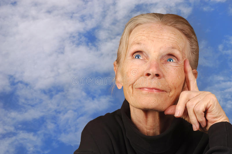 Femme d'espoir photo libre de droits