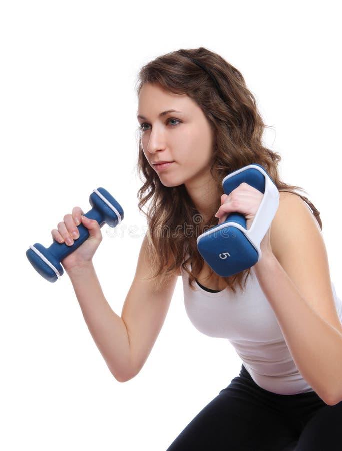 Femme d'exercice de forme physique images libres de droits