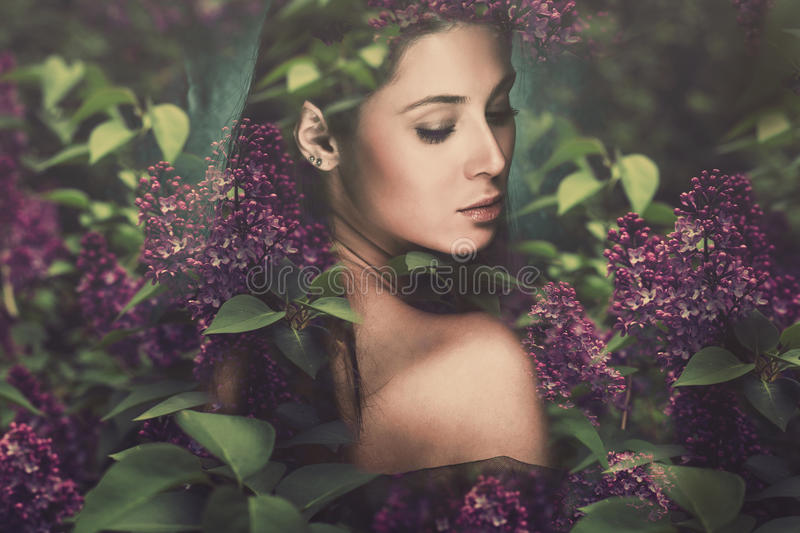 Femme d'imagination photo stock