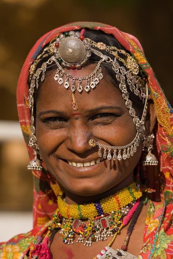 Femme d'Indien de verticale photo stock