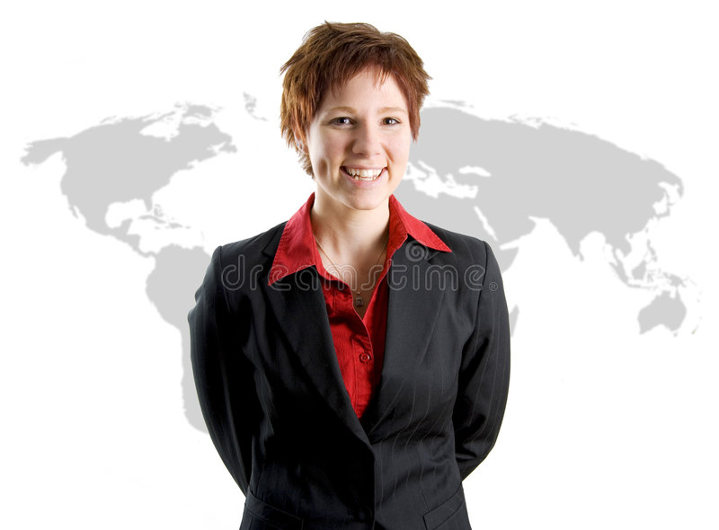 femme d'international d'affaires image stock