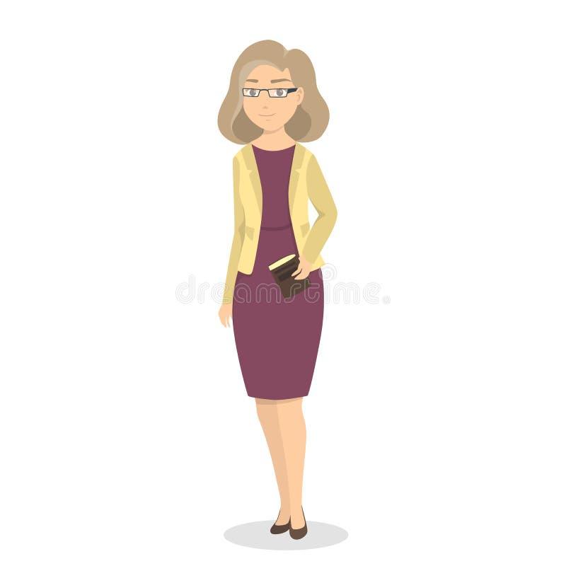 Femme d'isolement d'affaires illustration de vecteur