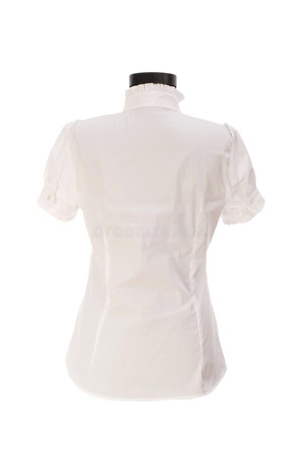 femme d'isolement de chemise photo stock