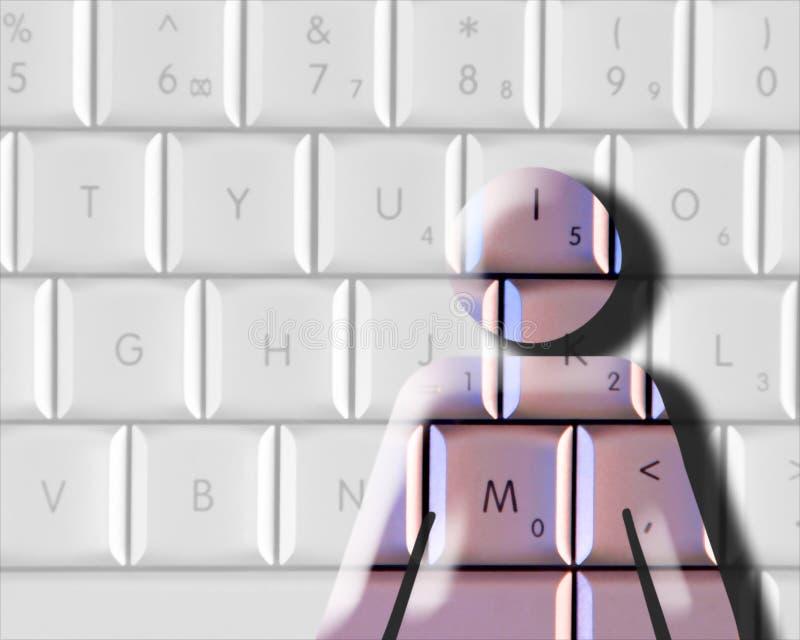 Femme d'ordinateur illustration libre de droits