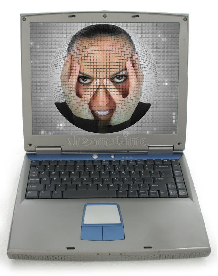 Femme d'ordinateur portatif image libre de droits