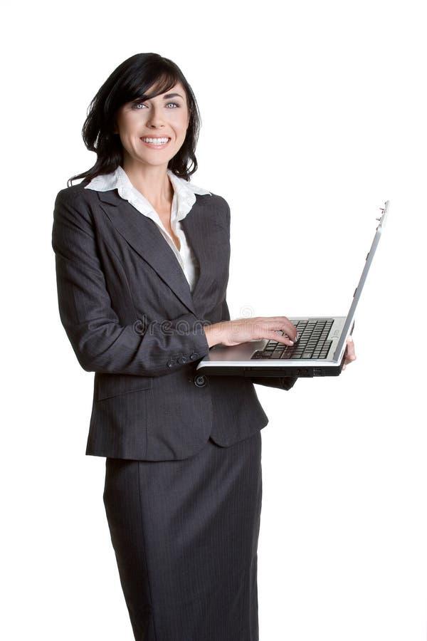 Femme d'ordinateur portatif photographie stock