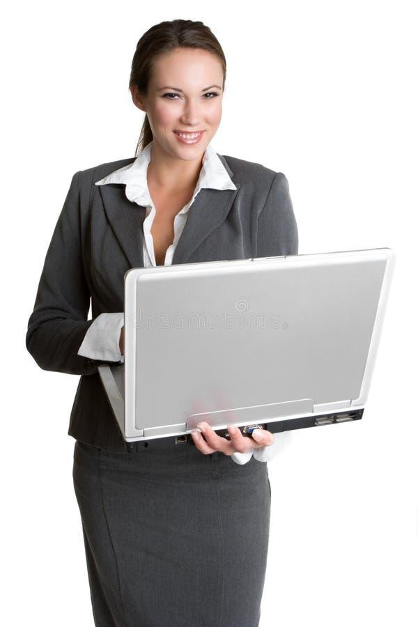 femme d'ordinateur portatif image stock