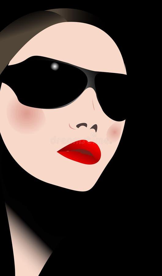 Femme dans des lunettes de soleil illustration stock