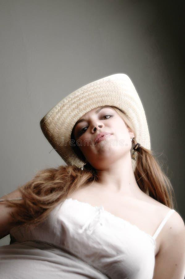 Download Femme dans dress-4 blanc image stock. Image du robe, sexy - 82683