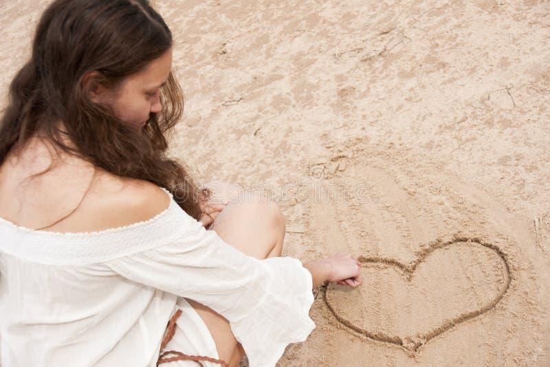 Femme dans l'amour photos stock