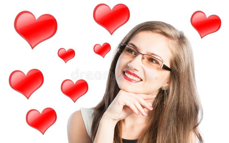 Femme dans l'amour photos libres de droits