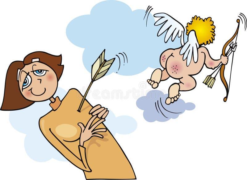 Femme dans l'amour illustration de vecteur