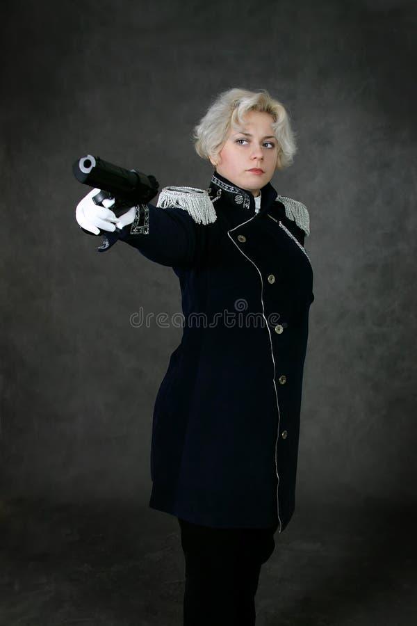 Femme dans l'uniforme photo libre de droits