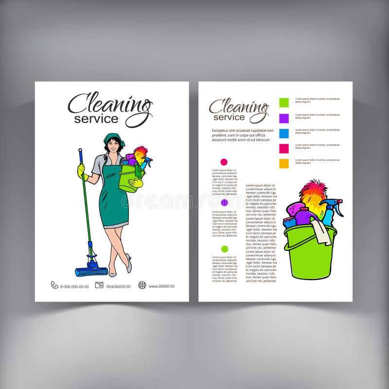Femme dans l'uniforme Services de nettoyage illustration libre de droits