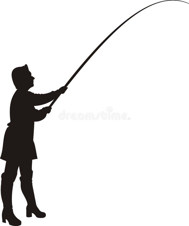 Femme dans la pêche. images libres de droits