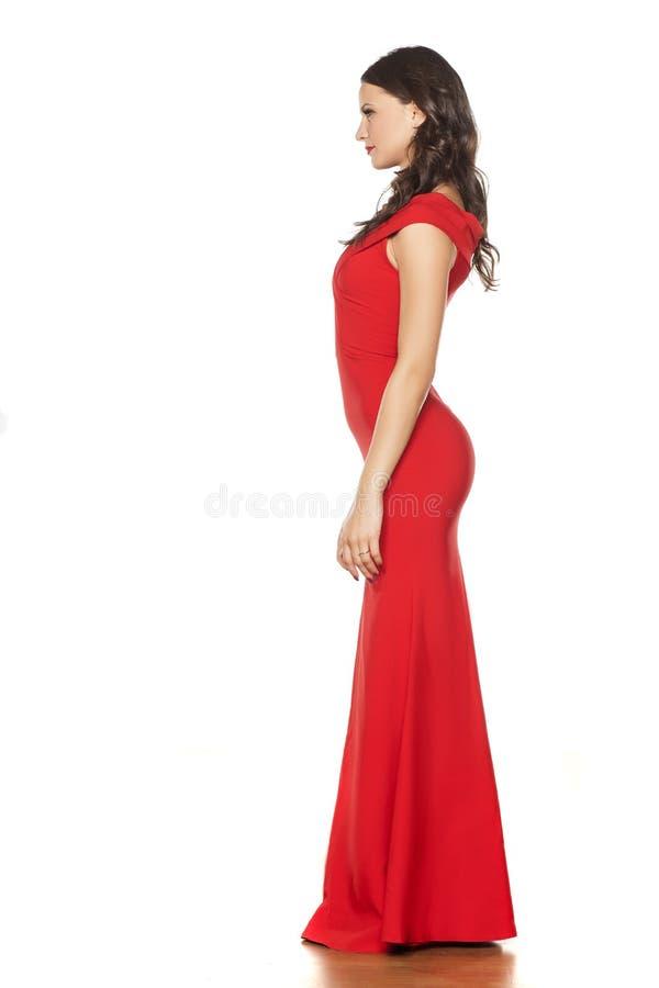 Femme dans la robe de soirée images libres de droits