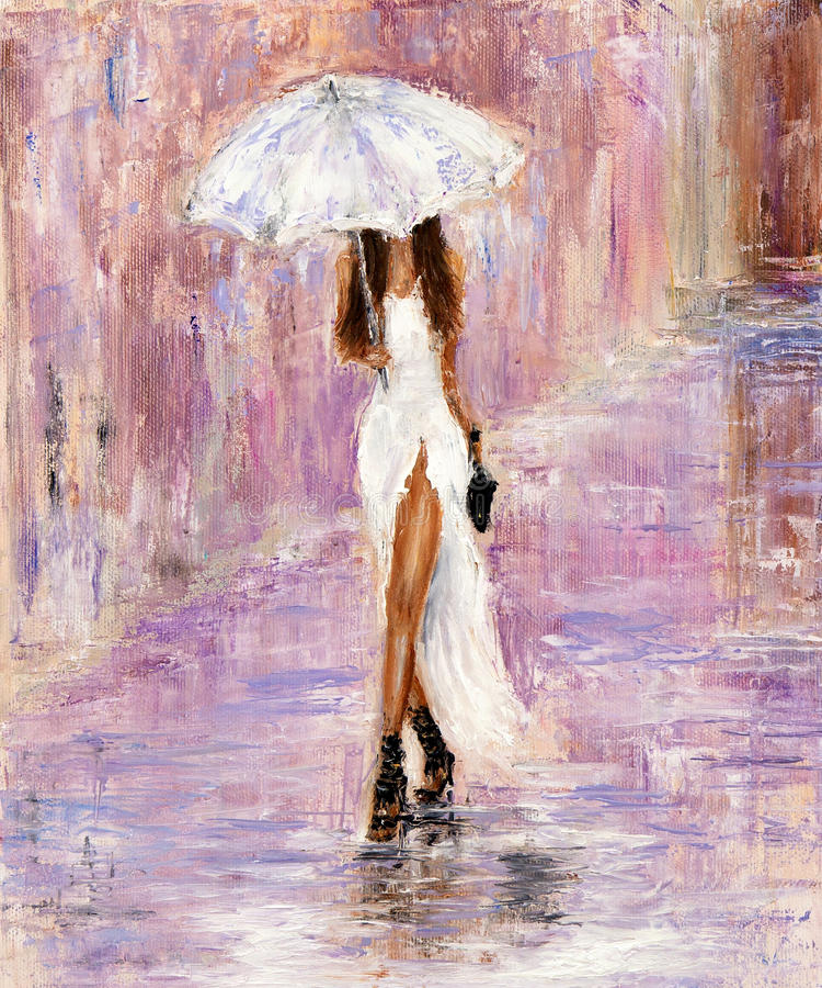 Femme dans le blanc illustration de vecteur