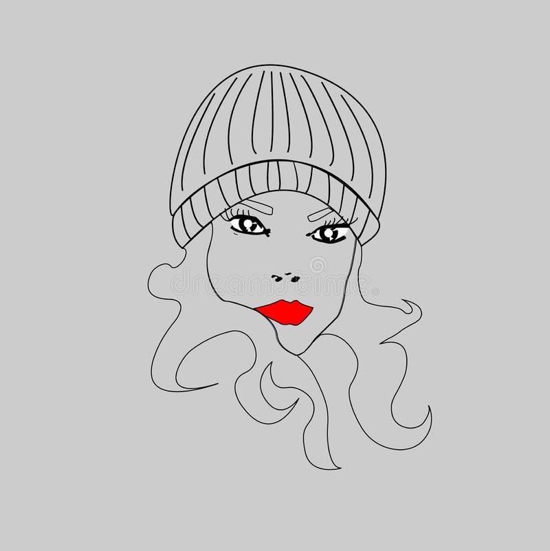 Femme dans le chapeau chaud photographie stock