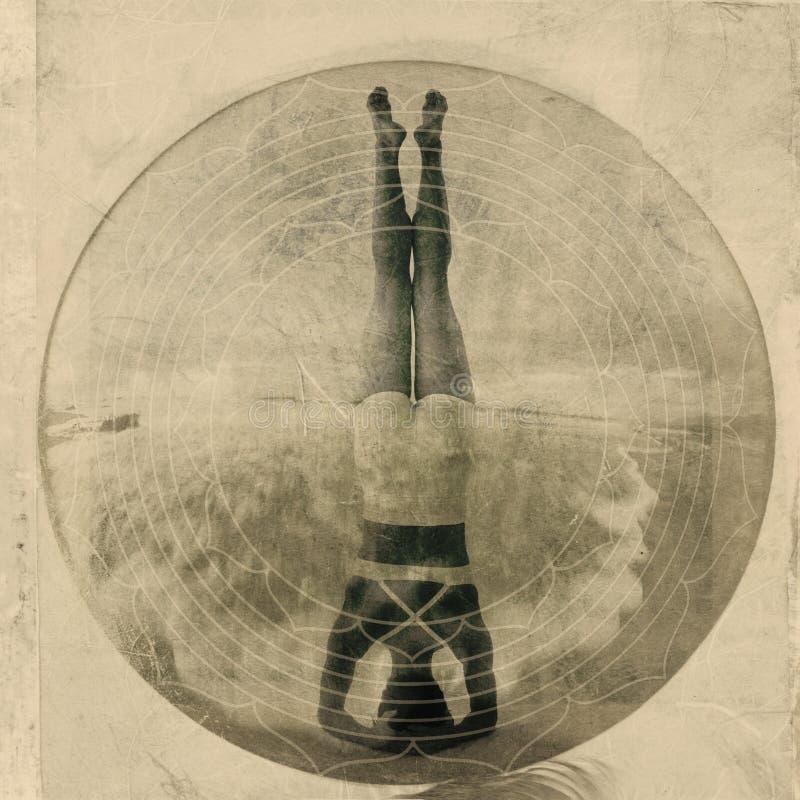 Headstand de yoga photographie stock libre de droits