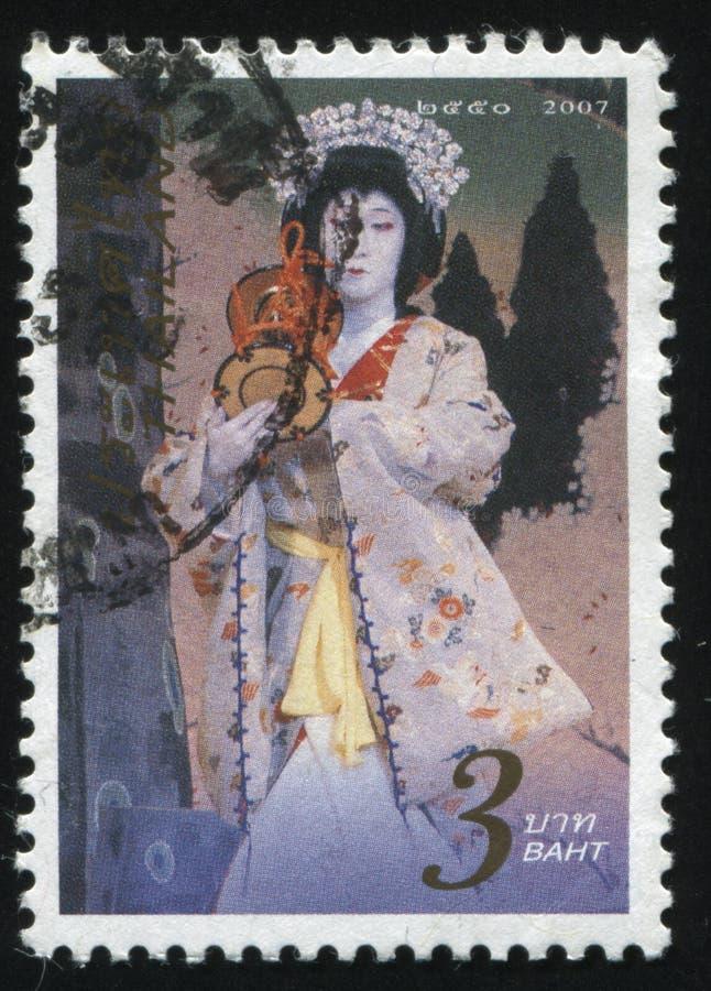 Femme dans le kimono photographie stock