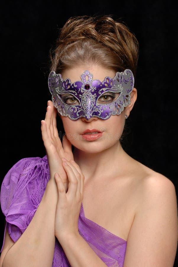 Femme dans le masque photos libres de droits